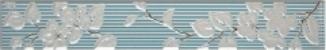 Бордюр Капри 2 бирюзовый широкий вертикальный