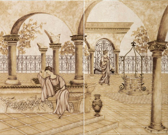 Панно Classic Decor Garden Emperador (комплект 2 плитки)