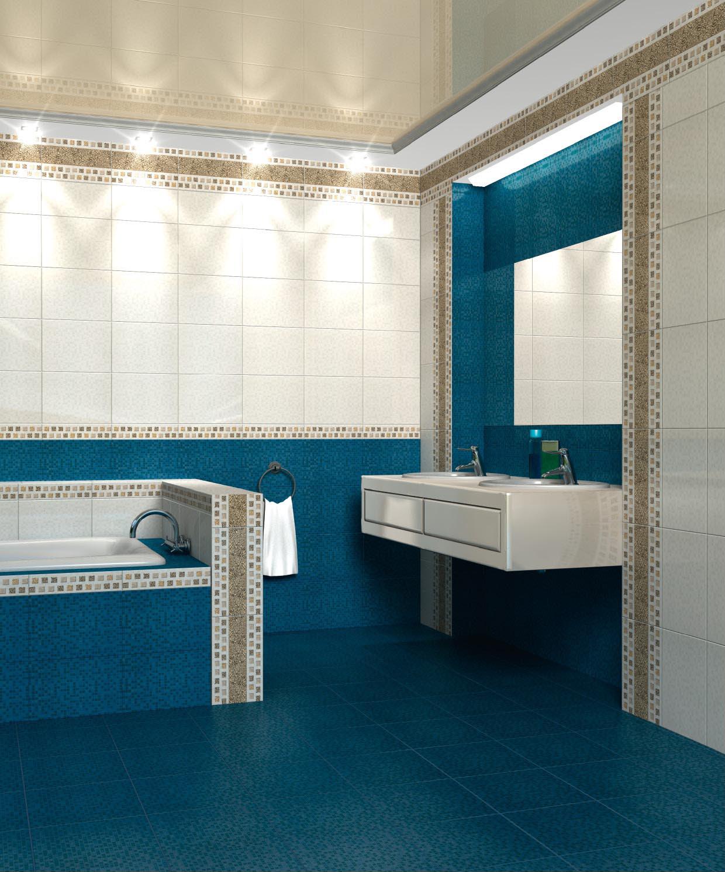 Однако в коллекции настенной плитки есть также трехмерные вставки и стилизованное панно из трех частей, собираемое в затейливый узор.