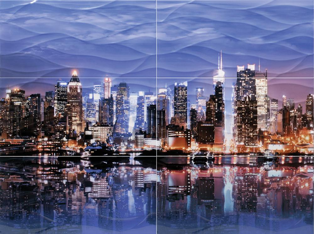 панно Нью-Йорк ПН107 из 6 плиток