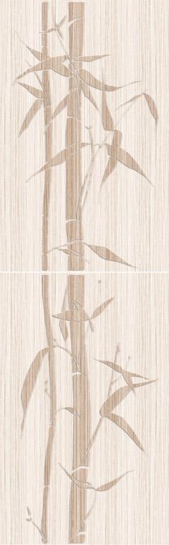 Панно Бамбук светло-бежевый (2шт)