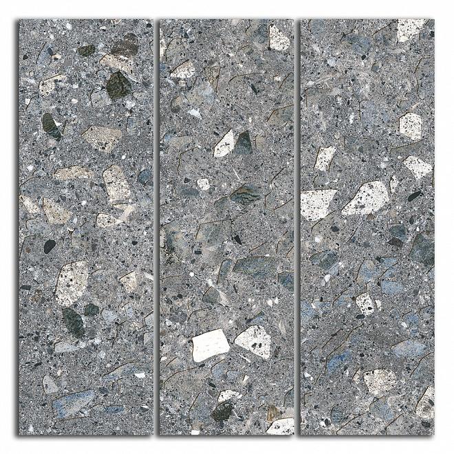 SG184/004 Декор Терраццо серый темный мозаичный