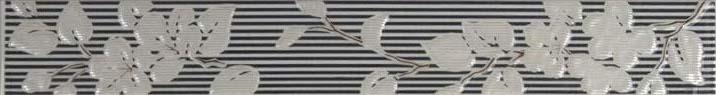 Бордюр Капри 2 черный вертикальный