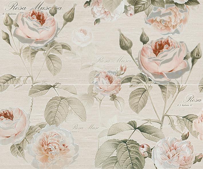 Garden Rose beige Панно 01