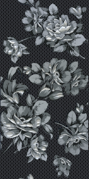 Декор Аллегро Цветы черный