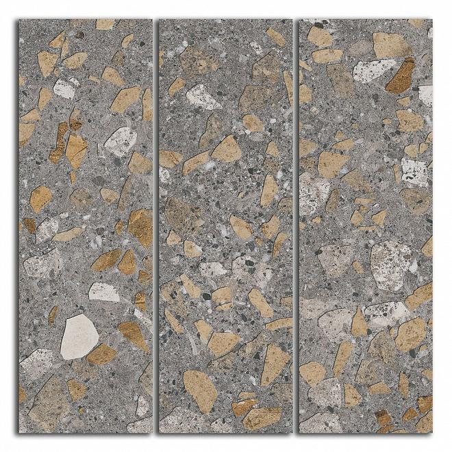 SG184/001 Декор Терраццо коричневый мозаичный