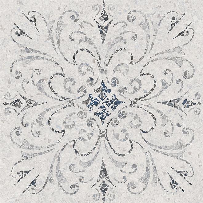 SG632500R  Терраццо серый светлый декорированный обрезной