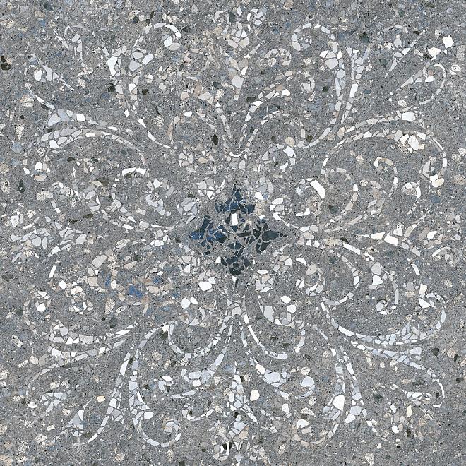 SG632900R  Терраццо серый тёмный декорированный обрезной