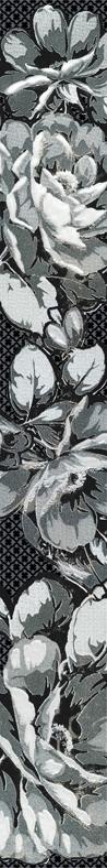 Бордюр Аллегро Цветы черный