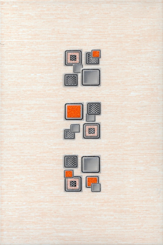 Декор лаура оранжевый