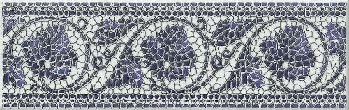 Korynt niebieski listwa