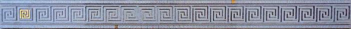 Пальмира Бордюр стеклянный серый