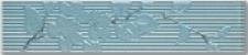 Бордюр  Капри 1 бирюзовый горизонтальный