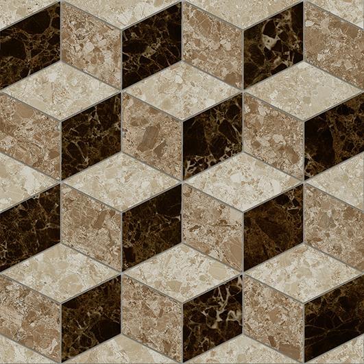 Скольера Керамогранит коричневый геометрия 6046-0350