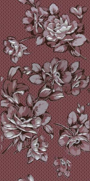 Декор Аллегро Цветы бордо