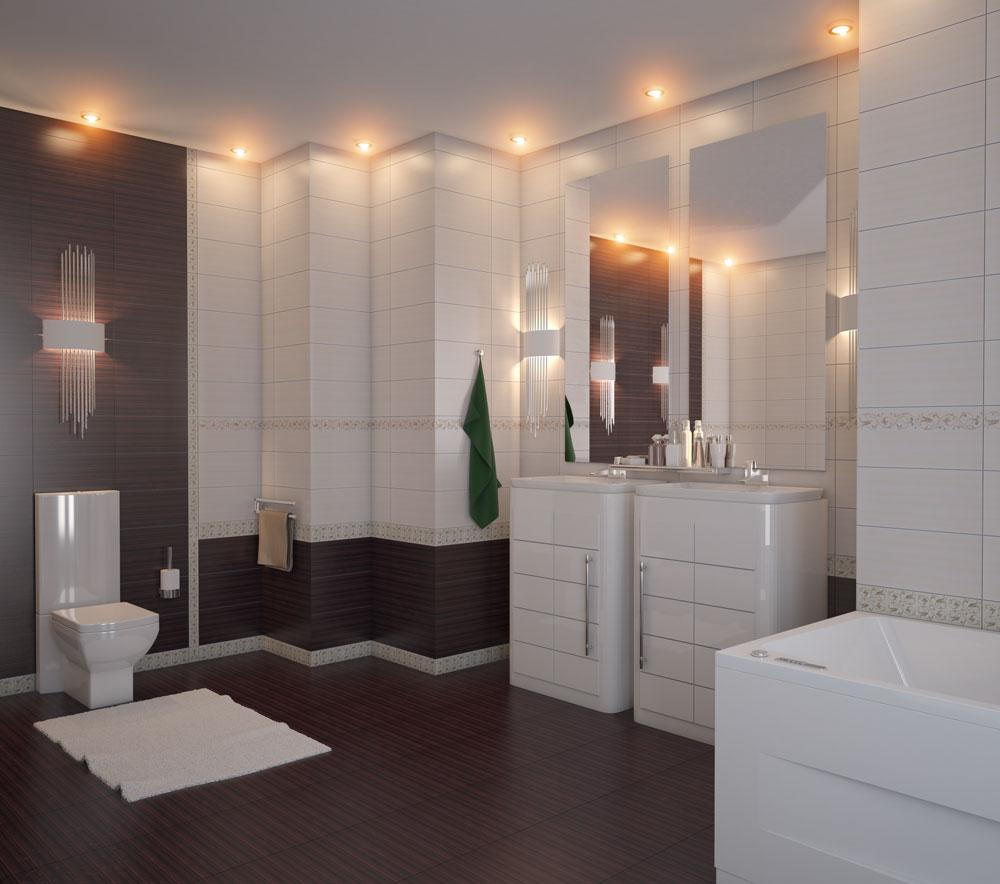 Ванные комнаты из шахтинской плитки дизайн