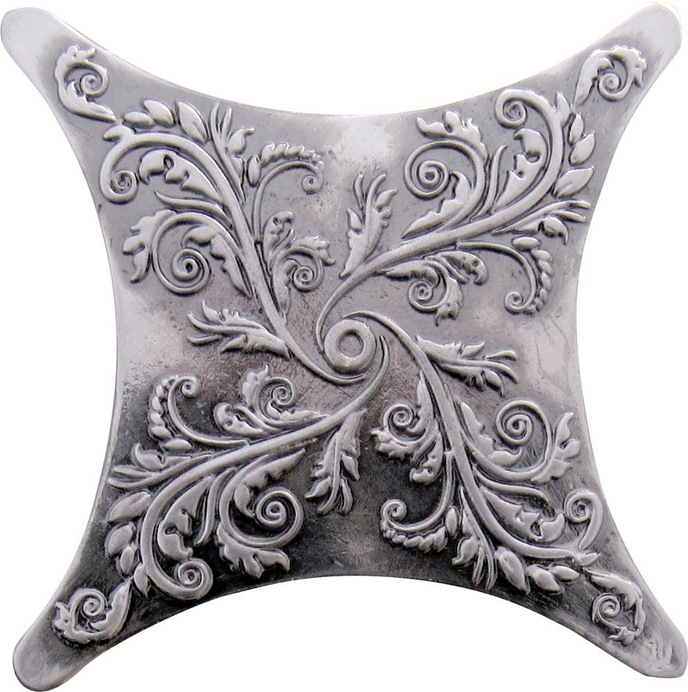 Вставка Estrella E1 plata oxidada black silver