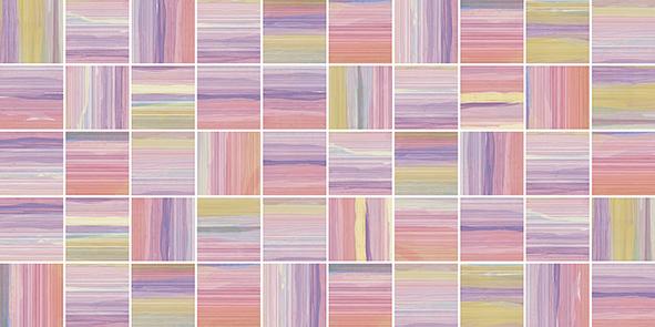 Фламинго 10-31-51-271 лиловый Мозаика стандарт 25х50