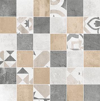 Цемент Стайл Мозаика напольная мульт. 6132-0128