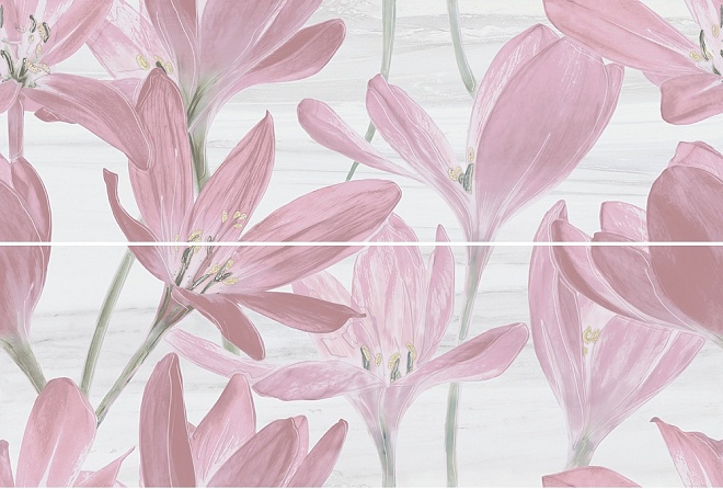 Панно Сады Форбури Крокус розовый 13012R\A\B\3F