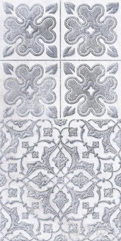 Кампанилья Плитка настенная тёмно-серая 1041-0253Кампанилья Декор 1 серый 1641-0091Кампанилья Декор 2 серый 1641-0094
